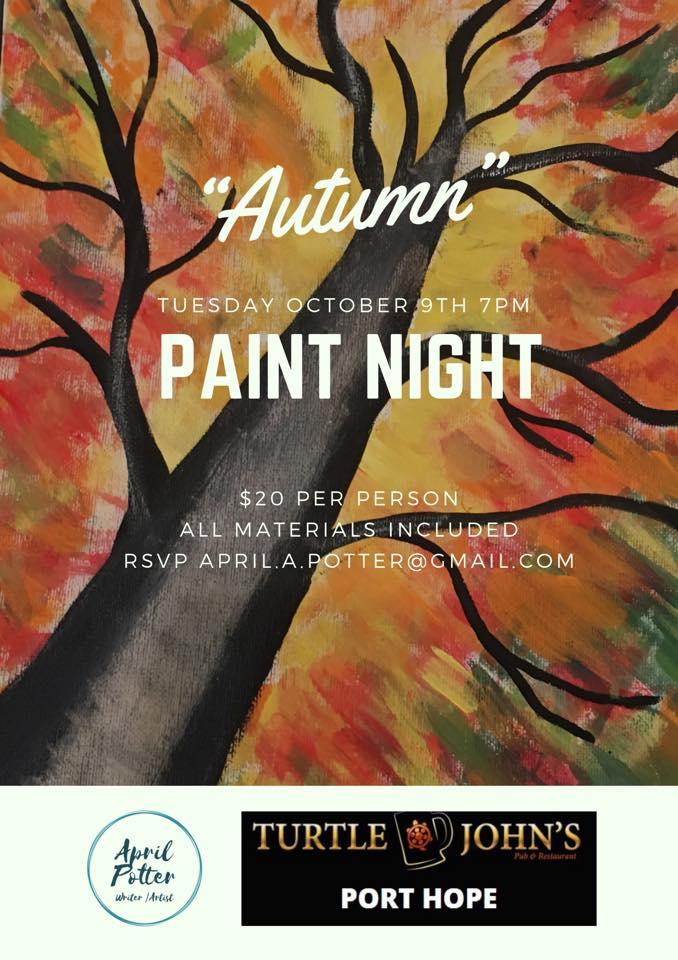 paint night oct 9